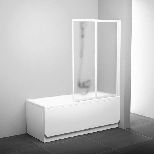 Шторка для ванны Ravak VS2 105 796M0100Z1 белый+transparent
