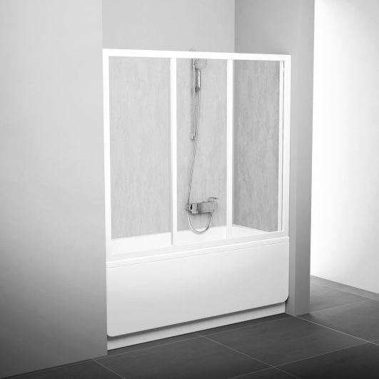 Двери для ванны Ravak AVDP3-170 40VV0102Z1 белый+transparent