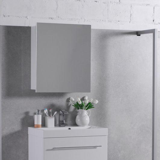 Зеркальный шкаф Fancy Marble ШЗ-700 Белый