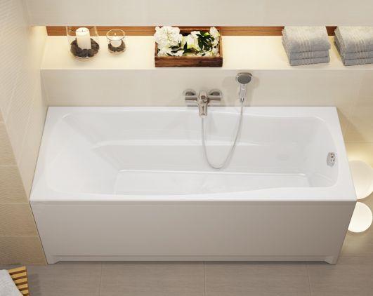 Акриловая прямоугольная ванна Cersanit Lana 160x70