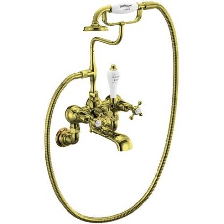 Смеситель для ванны с душем Burlington Regent CLR17-QT GOL