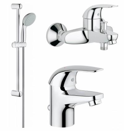 Комплект смесителей для ванны Grohe Euroeco 123226S