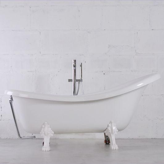 Ванна Fancy Marble Леди Гамильтон (Romance) 174,5х82 Перелив Хром