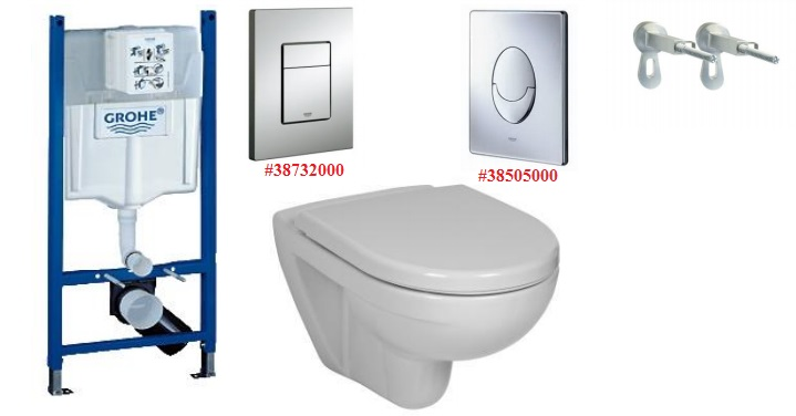 Grohe Rapid SL Набор 3в1+Jika Lyra Plus 8.2338.0.000.000.1+SoftClose Jika Lyra Plus 8.9338.5.300.000.1