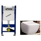 Geberit 458.121.21.1 4в1 комплект с унитазом Villeroy & Boch Venticello Direct Flush 4611RS01+SoftClose SlimSeat 9M79S101