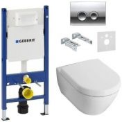 Geberit Duofix 458.161.21.1+Villeroy & Boch Subway 2.0 5614R001 Directflush SoftClose