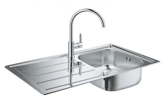 Кухонная мойка со смесителем Grohe Bau K200 31562SD0