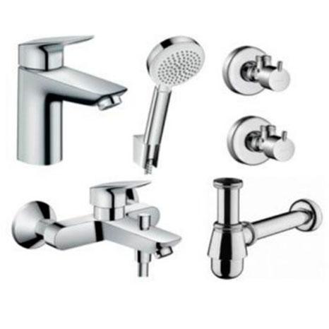 Комплект смесителей для ванны Hansgrohe Logis 711714510