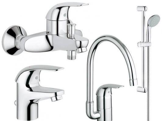 Комплект смесителей для ванны Grohe EuroEco 123242K