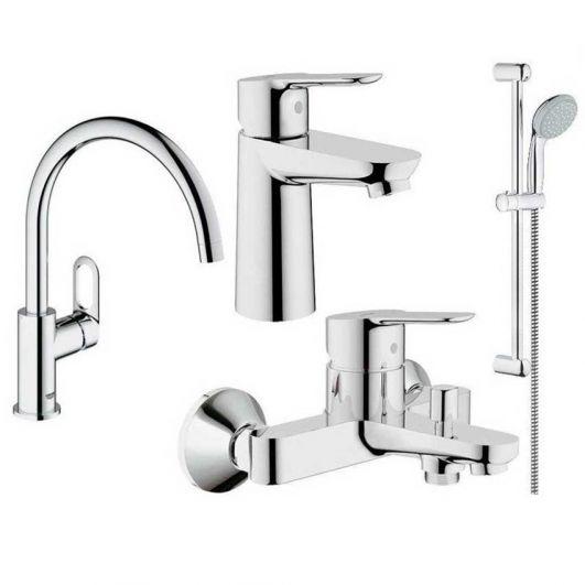 Комплект смесителей для ванны Grohe BauEdge 123218K