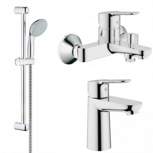 Комплект смесителей для ванны Grohe BauEdge 123365S