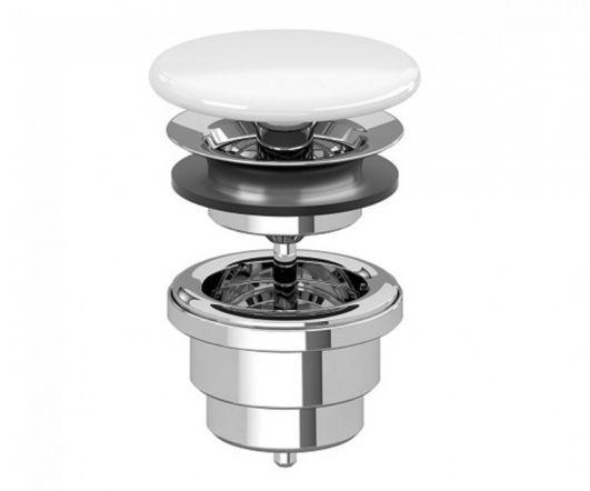 Донний клапан Villeroy&Boch 68080001 білий для раковин без переливу